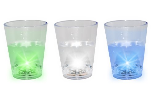 Thumbs Up! 3-Pack Flashing Shot Glasses