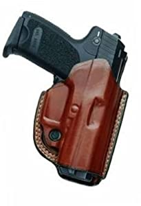AKER H268ABPRU-MP 40 FlatSider Paddle XR 19 Strapless Holster, Smith & Wesson MP 40, Right, Black