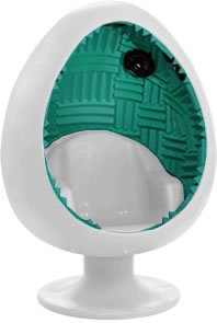 Captivating 5.1 Sound Egg Chair   Off White/Teal
