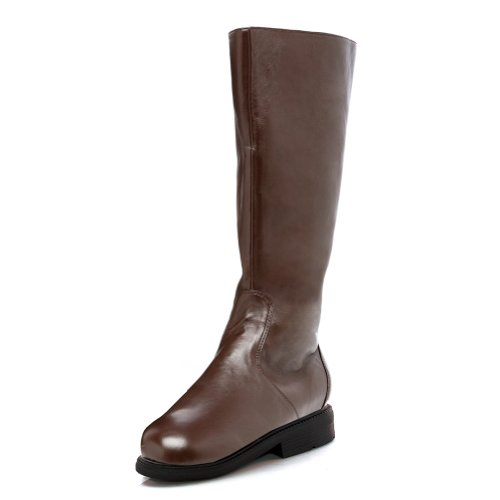 MENS SIZING 1 Inch Heel Mens Plain Knee High Boots Pirate Renaissance Warrior