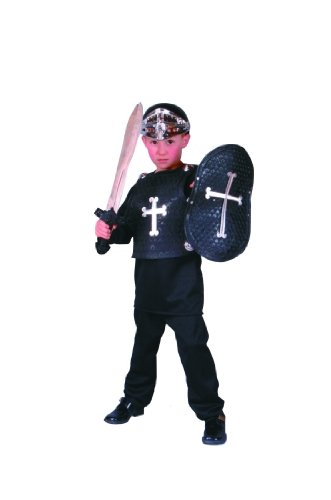Child's Black Knight Costume Size Medium (8-10)