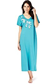 Per Una Modal Blend Floral Embroidered Long Nightdress