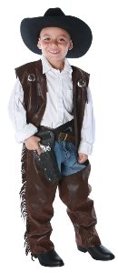 Cowboy Chaps Vest Child Medium Costume