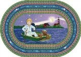 "Joy Carpets Kid Essentials Infants & Toddlers Oval Row Your Boat Rug, Multicolored, 7'8"" x 10'9"""