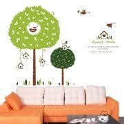 DIY Fashion Self Adhesive PVC Removable Wall Stickers / House Interior Decoration Pictures -- Sweet Home, Size: 90cm x 60cm