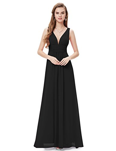 Ever Pretty Sleeveless V-Neck Semi-Formal Maxi Dress 09016