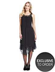 M&S Collection Embellished Neckline Babydoll Chiffon Dress