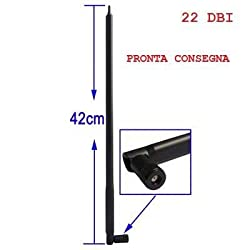 20Dbi 3G Wifi Redio Wave Router Antenna Aerial Rp-Sma 2.4Ghz Triangle 17Inch