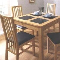 Atlantis Square Dining Table 4 Dining Chairs Kitchen Home