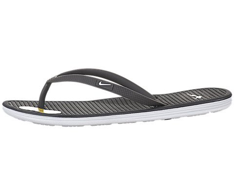 Nike Womens Celso Solarsoft Thong II Sandals (9, Anthracite/White-Pure Platinum)