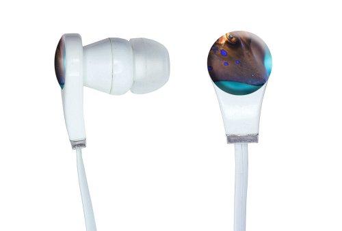 Stingray - Fish Underwater Ocean Diving Dive Novelty In-Ear Earbud White Headphones