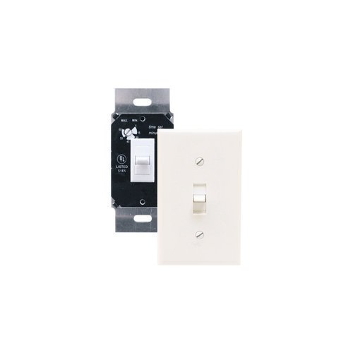 Air King Akdt60 Exhaust Fan Control Switch With Simultaneous Delay Timer, Ivory front-611530
