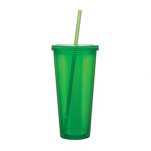 Eco To Go Cold Drink Tumbler - Double Wall -20Oz. Capacity - Apple front-994519