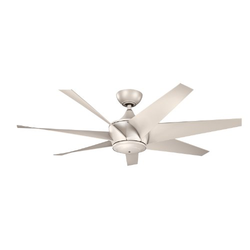 Kichler Lighting 310112Ans Lehr Ii Climates 54-Inch Wet Location High Efficiency Dc Ceiling Fan, Antique Satin Silver Finish With Antique Satin Silver Abs Blades front-890704