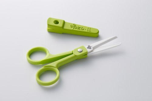 ZOLI - SNIP - Ceramic Baby Food Scissors - Green