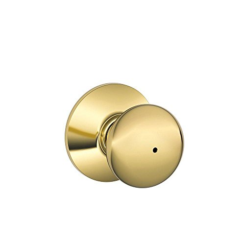Schlage F40PLY605 Plymouth Privacy Knob, Bright Brass (Schlage Door Knobs Bed And Bath compare prices)