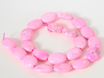 Large Pink Oval Turquoise Loose Beads Gemstone
