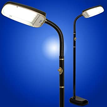 BlueMax 70 Watt Full Spectrum 10,000 Lux Light Therapy/SAD Floor Lamp, Black