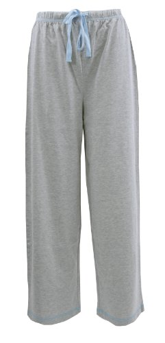 Leisureland Women's Cotton Knit Pajama Sleepwear Lounge Capri Pants Gray XL
