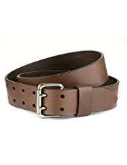 Leather Double Pronged Belt