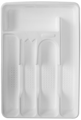 Rubbermaid Silverware Cutlery Tray, White (Small Utensil Tray compare prices)