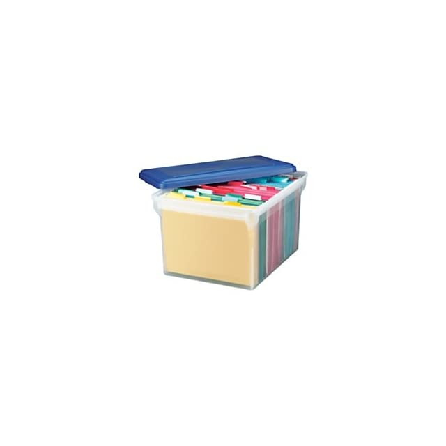 Office Depot Stackable File Tote Box, Letter/Legal Size, 10