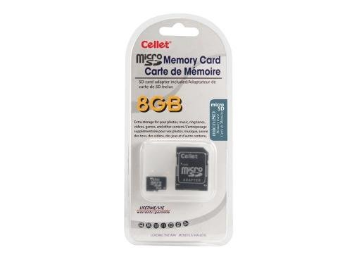 Cellet 8GB MicroSD for ViewSonic ViewPad 7 Smartphone custom flash memory, high-speed transmission, plug and play, with Full Size SD Adapter. (Retail Packaging) (Micro View Camera compare prices)