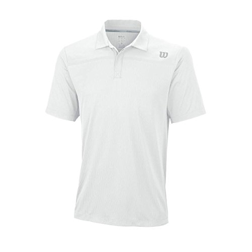 Wilson M Knit Polo, Bianco, L