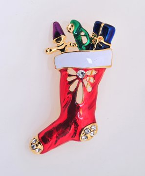 Gold Gifts in Sock Pin Brooch