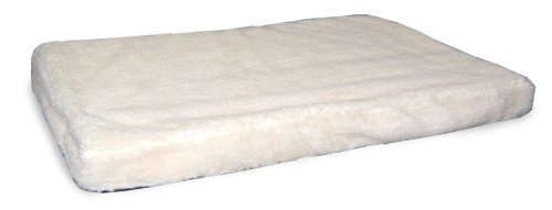 Nap Pet Bed Medium Orthopedic Mattress Pet Bed, 2-Inch, Cream