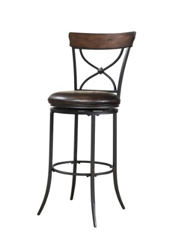 Cameron Swivel X-Back Stool - Bar Height