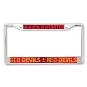 Manchester United Metal License Plate Frame