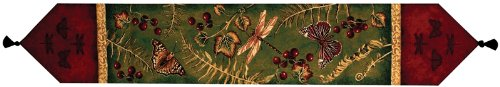 Flora and Fauna Vintage Style Table Runner by Manual Woodworker