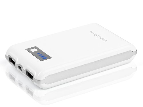 RAVPower Element 10400mAh External Battery Pack Charger Power Bank (Dual USB Outputs, Ultra Compact Design), for iPhone 5S, 5C, 5, 4S, 4, iPad Air, 4, 3, 2, Mini 2 (Apple adapters not included); Samsung Galaxy S4, S3, S2, Note 3, Note 2; HTC One, EVO, Thunderbolt, Incredible, Droid DNA, Motorola ATRIX, Droid, Moto X, Google Glass, Nexus 4, Nexus 7, Nexus 10, LG Optimus, PS Vita, GoPro, Smart Watch and More