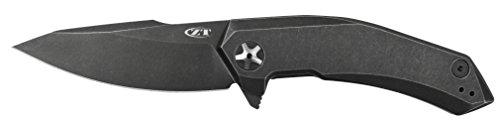 Zero Tolerance 0095BW KVT Titanium Blackwash Knife, Black