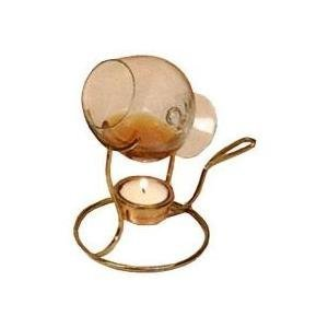 Old Dutch Brandy Warmer With Tea Light And Glass Snifter, 7 By 4-Inch