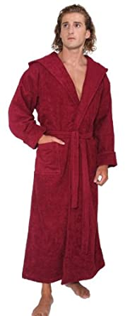 Arus Men s Hood n Full Ankle Length Thick Hooded Turkish Cotton Bathrobe a83c59ac8