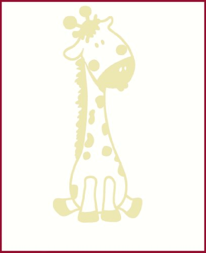 Wall Decor Plus More Baby Giraffe Wall Sticker for Nursery or Child's Room Decor Vinyl Decal 24x10 Beige Beige