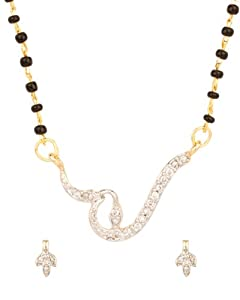 Voylla Dazzling Cute Cz Pendant;Bead Mangalsutra Set available at Amazon for Rs.149