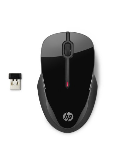 HP X3500 Mouse Wireless, Nero