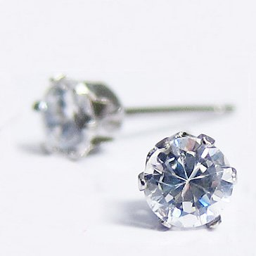 イーアリス 2 in 1 pairs 316 L stainless steel earrings CZ earrings