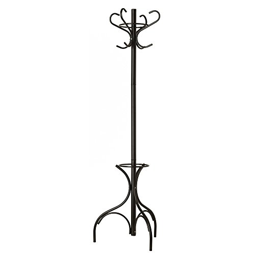 GrayBunny GB-6807 Metal Coat Rack, Hat Stand, Umbrella Holder, Hall Tree, Black, For Home or Office (Bedroom Clothes Rack compare prices)