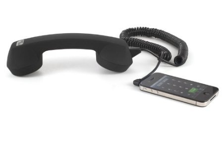 Bloutina Echo Logico Retro Handset - Soft Touch - Wired Headsets - Retail Packaging - Black (Elo - Blk - St)