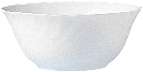 Esmeyer Trianon - Set 2 insalatiere, 24 cm, vetro temperato Acropal, bianco