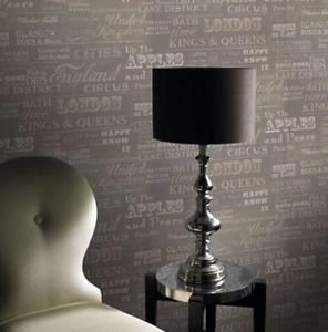 Gran Deco Very British Wallpaper - Grey by New A-Brend