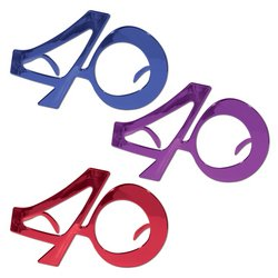 40 Metallic Fanci-Frames (asstd blue, purple, red) Party Accessory  (1 count) (1/Pkg)