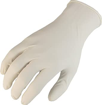 "Showa Best W1005 Derma Thin Latex Glove, Lightly Powdered, 9.5"" Length, 5 mils Thick"