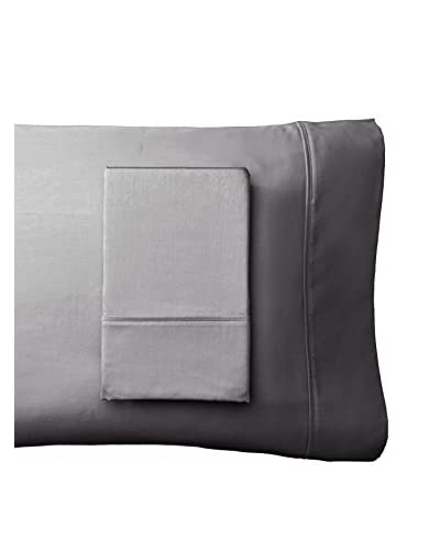 Westport Linens Set of 2 Wrinkle Free Standard Pillowcases, Platinum