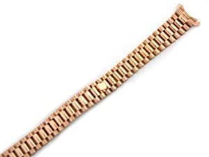 Ladies 18k Rose Gold President Watch Band for Rolex