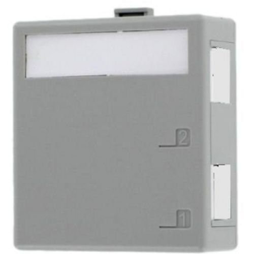 Leviton 41089-2Gp Quickport Surface Mount Housing, 2-Port, Grey, Includes 1 Blank Quickport Insert